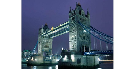 Identify this famous bridge situated in London: